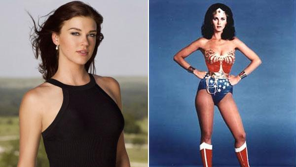 Left: Adrianne Palicki in a still from Lone Star Right:Lynda Carter as Wonder Woman from the 70s series The New Adventures of Wonder Woman. - Provided courtesy of Fox / CBS