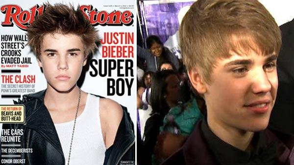 Justin Bieber appears on the cover of Rolling Stone in February 2011 / Justin Bieber talks to OnTheRedCarpet.com at the premiere of Never Say Never on Feb. 8, 2011. - Provided courtesy of OTRC / Rolling Stone