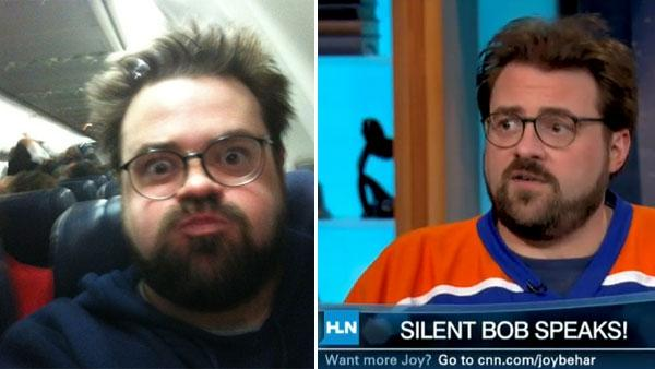 Kevin Smith appears in a photo posted on his Twitter page on Feb. 14, 2010, along with the caption: February 14, 2010. / Kevin Smith appears on HLN's 'Joy Behar Show' on Feb. 8, 2011.