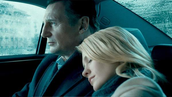Liam Neeson and January Jones in a scene from the 2011 film Unknown. - Provided courtesy of Dark Castle Entertainment