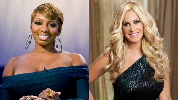 NeNe Leakes and Kim Zolciak in a promotional stills from The Real Housewives of Atlanta. - Provided courtesy of Quantrell Colbert/Bravo