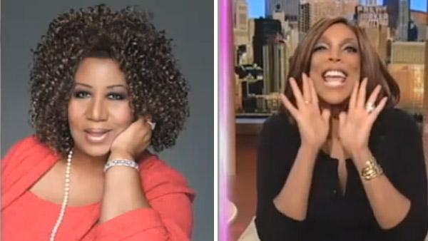 Aretha Franklin and Wendy Williams in a still from The Wendy Williams Show on February 21. - Provided courtesy of Photo courtesy of YouTube