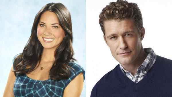 Olivia Munn is pictured in a still from Perfect Couples/Matthew Morrison is pictured in a still from Foxs Glee. - Provided courtesy of Photo courtesy of NBC/20th Century Fox Television