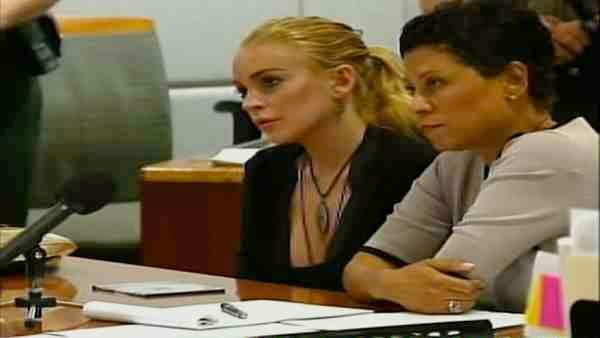 Actress Lindsay Lohan appears in an L.A. courtroom on Feb. 23, 2011, to face a felony grand theft charge involving a $2,500 necklace that was reported missing from a Venice jewelry store. - Provided courtesy of KABC