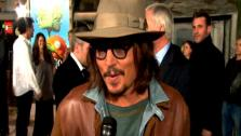 Johnny Depp talks to OnTheRedCarpet.com at the premiere of his animated movie, Rango. - Provided courtesy of KABC / OTRC
