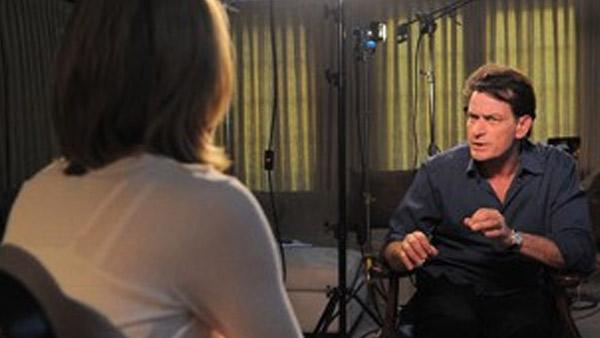 Charlie Sheen sits down for an interview with ABC News Andrea Canning for a Special Edition of 20/20 to air on March 1st. - Provided courtesy of KABC