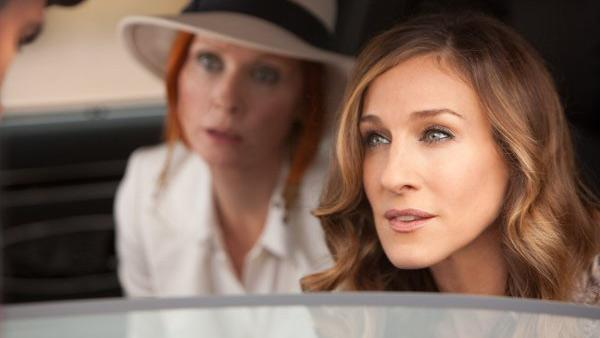 Sarah Jessica Parker and Cynthia Nixon appear in a still from Sex and the City 2. - Provided courtesy of New Line Productions/Craig Blankenhorn