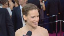 OTRC talks with Hilary Swank about being a presenter at the 2011 Academy Awards. - Provided courtesy of KABC
