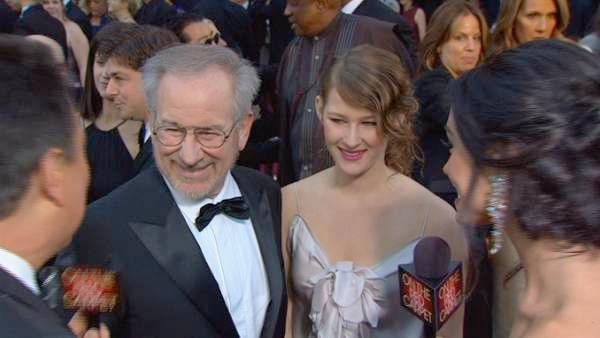Steven Spielberg on the Oscar red carpet