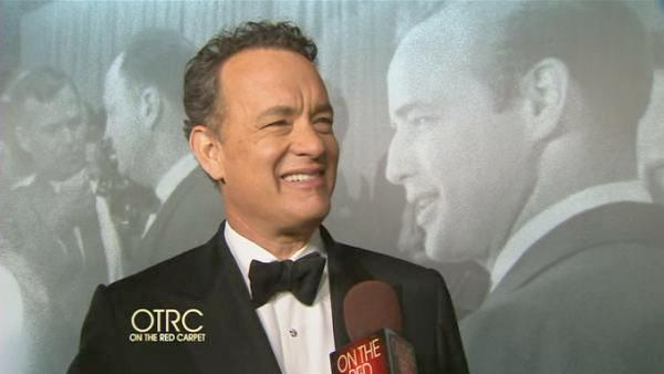 OTRC talks with Tom Hanks after the 83rd Academy Awards on Feb. 26, 2011. - Provided courtesy of OTRC