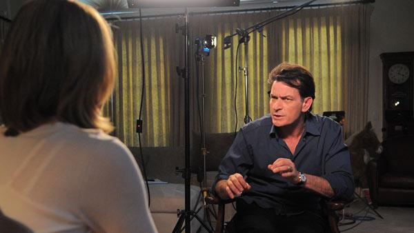 Charlie Sheen sits down for an interview with ABC News Andrea Canning for a Special Edition of 20/20 to air on March 1st. - Provided courtesy of ABC