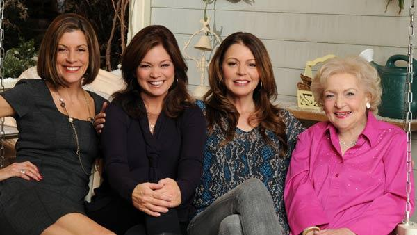 From left: Wendie Malick, Valerie Bertinelli, Jane Leeves and Betty White pose in a publicity photo for Hot in Cleveland. - Provided courtesy of TV Land