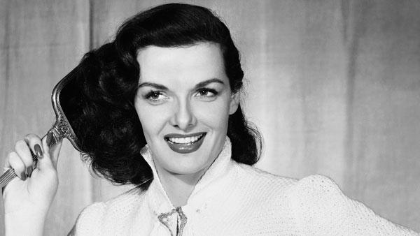 In this May 31, 1952 file photo, actress Jane Russell models a b