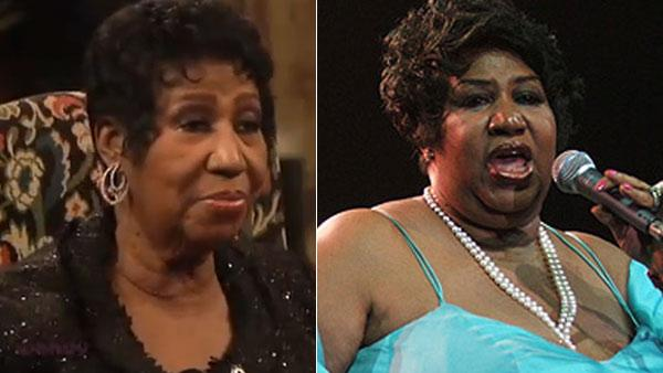 Aretha Franklin appears on 'The Wendy Williams Show' on March 2, 2011. / Aretha Franklin appears in an undated 2007 photo.