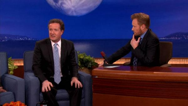 Piers Morgan appears on Conan with Conan OBrien on March 1, 2011. - Provided courtesy of TBS
