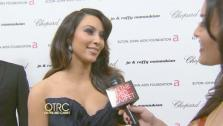 OTRC talks with Kim Kardashian at Elton Johns Oscar party after the 83rd Academy Award. - Provided courtesy of KABC
