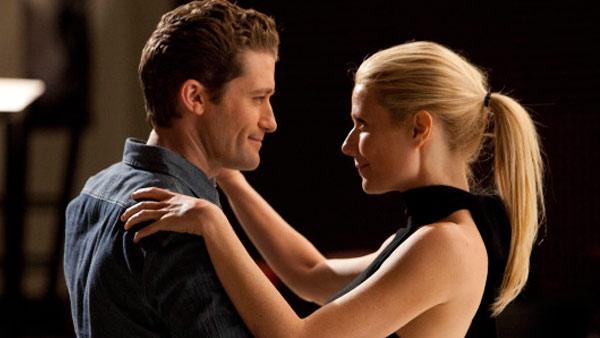 Matthew Morrison and Gwyneth Paltrow appear in a still from Glee. - Provided courtesy of Photo courtesy of Fox/Adam Rose
