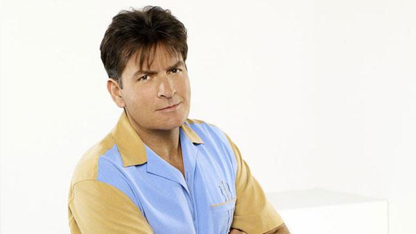 Actor Charlie Sheen is shown in the show, 'Two and a Half Men.'