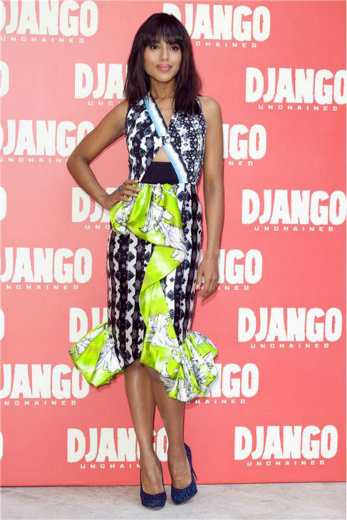 Kerry Washington attends a photocall for &#39;Django Unchained&#39; in Rome, Italy on Jan. 4, 2013. <span class=meta>(Marco Provvisionato &#47; Startraksphotos.com)</span>