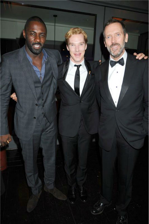 Benedict Cumberbatch poses in between fellow British actors Idris Elba of &#39;Luther&#39; and Hugh Laurie of &#39;House&#39; at the 2011 GQ Men of the Years Awards in London on Sept. 6, 2011. <span class=meta>(Richard Young &#47; Startraksphoto.com)</span>