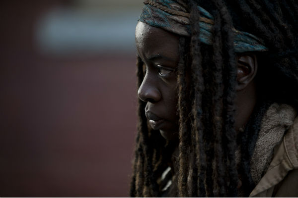 Michonne &#40;Danai Gurira&#41; appear in a scene from AMC&#39;s &#39;The Walking Dead&#39; season 4 finale, which aired on March 30, 2014. <span class=meta>(Gene Page &#47; AMC)</span>