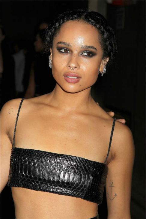 Zoe Kravitz arrives at the 30th annual Night of Stars gala in New York on Oct. 22, 2013.