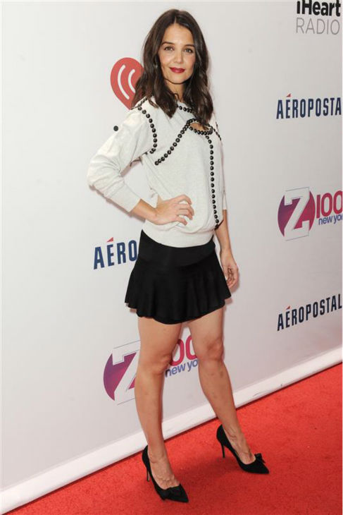 "<div class=""meta image-caption""><div class=""origin-logo origin-image ""><span></span></div><span class=""caption-text"">Katie Holmes walks the red carpet at the 2013 Z100 Jingle Ball at Madison Square Garden in New York on Dec. 13, 2013. (Bill Davila / Startraksphoto.com)</span></div>"