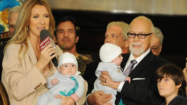 Celine Dion and Rene-Angelil appear in an undated photo from Dions official website with their son Rene-Charles and twins Eddy and Nelson. - Provided courtesy of CelineDion.com/Denise Truscello