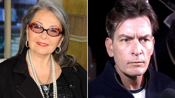 Roseanne Barr appears in a January 5, 2011 episode of Good Morning America. Charlie Sheen talks to reporters after the actors twin boys were removed from his house. - Provided courtesy of ABC / OTRC