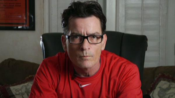 Charlie Sheen in an episode for the webcast Sheens Korner airing on March 8, 2011. - Provided courtesy of UStream