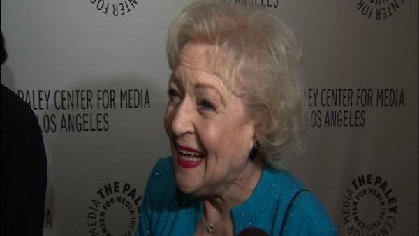 Betty White talks about books, television and gushes about her colleagues to OnTheRedCarpet.com at a PaleyFest 2011 event honoring the cast of Hot in Cleveland. - Provided courtesy of OnTheRedCarpet.com