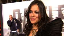 Michelle Rodriguez talks to OnTheRedCarpet.com at the premiere of Battle Los Angeles. - Provided courtesy of KABC / OTRC