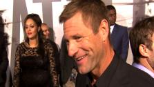Aaron Eckhart talks to OnTheRedCarpet.com at the premiere of Battle Los Angeles. - Provided courtesy of KABC / OTRC