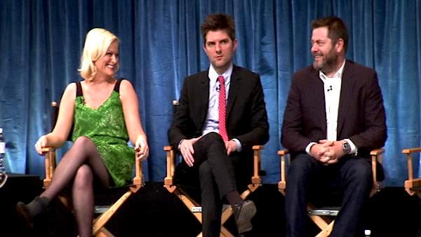 'Parks and Recreation' panel on kissing