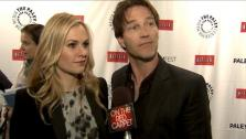 Anna Paquin and Stephen Moyer dropped a hint about the star of season four of True Blood and fan support. - Provided courtesy of OTRC