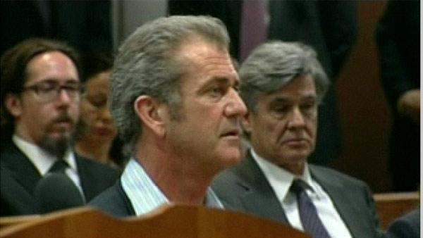 Mel Gibson appears in Los Angeles Superior court on March 11, 2011. - Provided courtesy of KABC / ABC