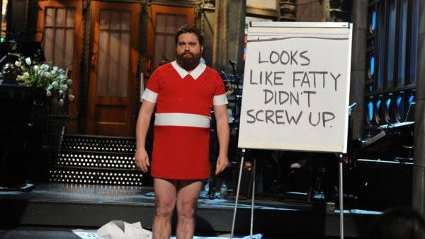 Zach Galifianakis appears in a monologue for the March 12, 2011 episode of Saturday Night Live. - Provided courtesy of NBC