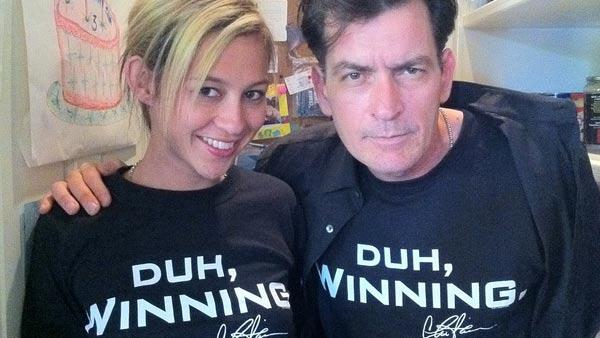 Charlie Sheen appears in a photo from his Twitter page from March 12, 2011. - Provided courtesy of Twitter.com/charliesheen