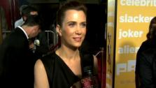 Kristen Wiig tells OnTheRedCarpet.com its refreshing to meet a friendly alien at the Hollywood premiere of Paul. - Provided courtesy of OTRC