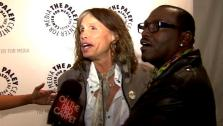 Steven Tyler and Randy Jackson talk to OnTheRedCarpet.com at a Paleyfest even for American Idol. - Provided courtesy of OTRC