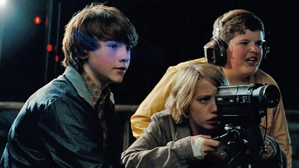 Joel Courtney, Ryan Lee and Riley Griffiths in a scene from the 2011 film 'Super 8,' directed by J.J. Abrams ('Star Trek') and produced by Steven Spielberg ('E.T.').