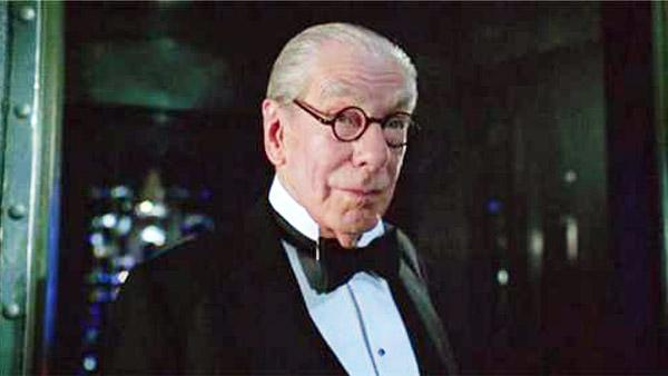 Michael Gough appears in a still from Tim Burton's 1995 film, 'Batman Forever.'