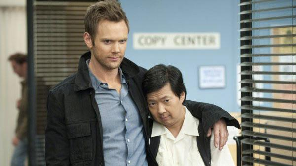 Joel McHale and Ken Jeong appear in a still from NBCs Community. - Provided courtesy of OTRC / NBC