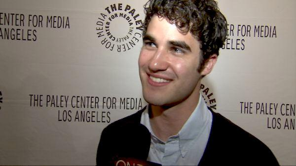 Darren Criss talks 'Glee' kiss