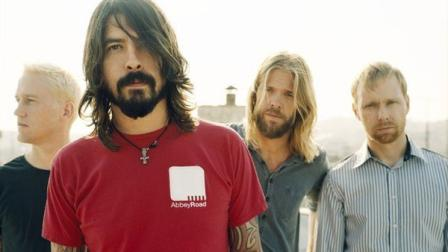 Chris Shiflett, Dave Grohl, Taylor Hawkins and Nate Mendel appear in an undated photo from the bands official Facebook page, Facebook.com/foofighters.