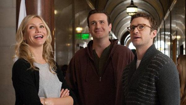 Cameron Diaz, Jason Segel and Justin Timberlake appear in a still from their 2011 film, Bad Teacher. - Provided courtesy of Columbia Tristar