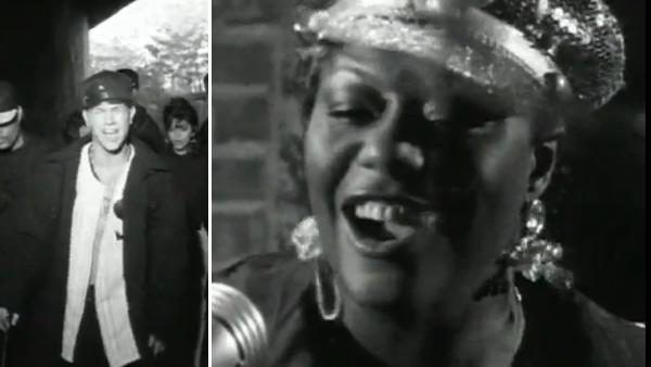 Mark Wahlberg and Loleatta Holloway appear in the music video 'Good Vibrations' by Marky Mark and the Funky Bunch in 1991.