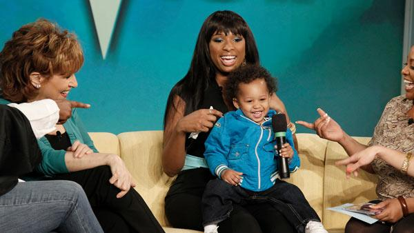 Jennifer Hudson and her son David appear on The View on March 22, 2011. - Provided courtesy of ABC