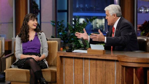 Rebecca Black and Jay Leno appear in a still from the March 22 episode of The Tonight Show With Jay Leno. - Provided courtesy of OTRC / NBC