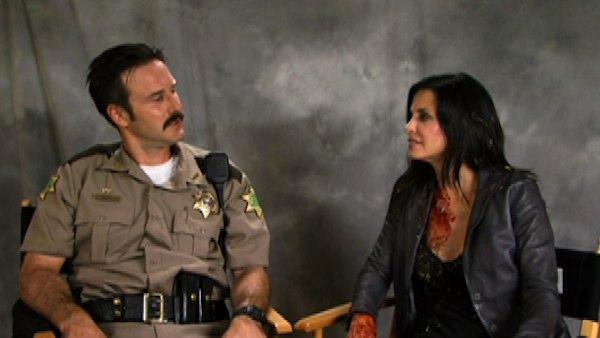 David Arquette and Courteney Cox gave a joint video interview, released in March 2011, to promote their film Scream 4, provided by Dimension Films. The married couple announced in October 2010 that they had separated. - Provided courtesy of Dimension Films
